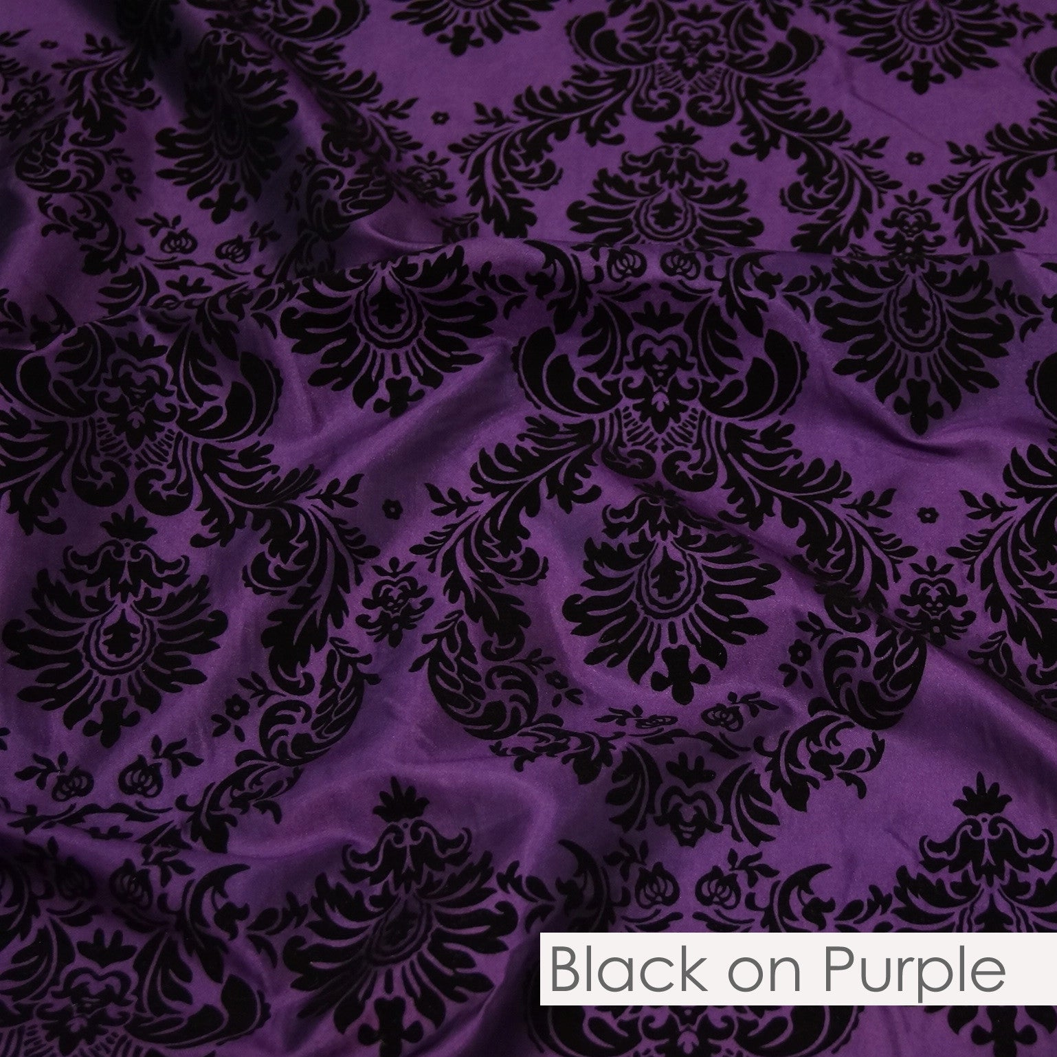 BLACK ON PURPLE