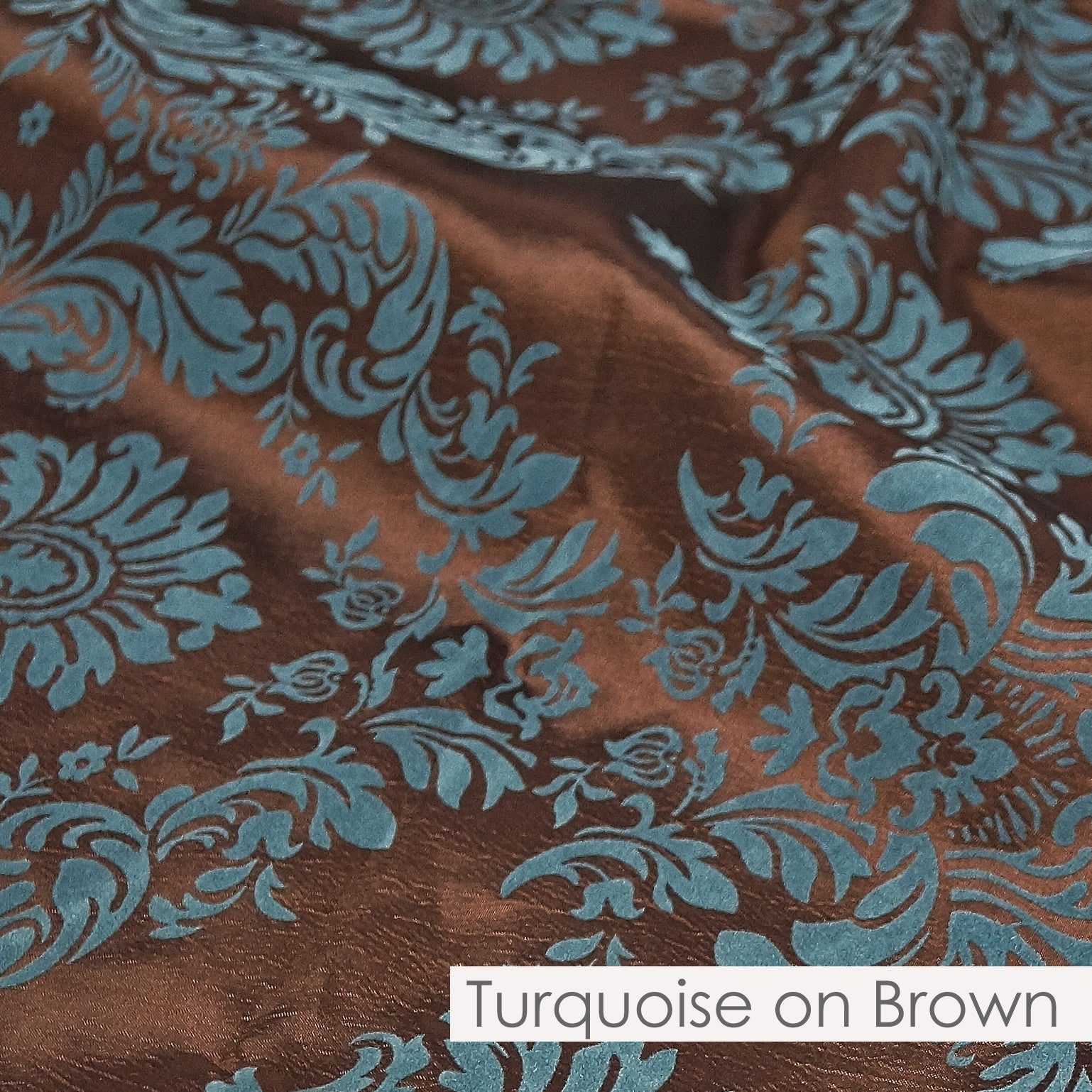 TURQUOISE ON BROWN