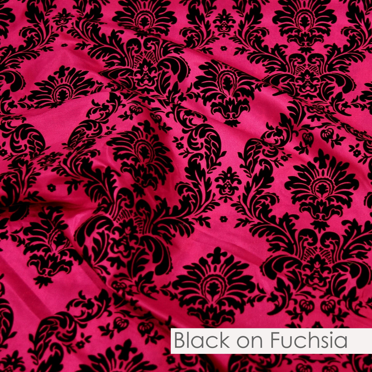 BLACK ON FUCHSIA