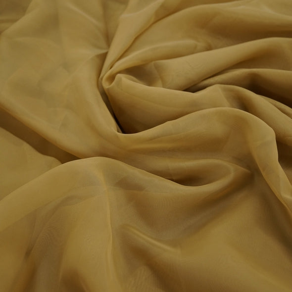 Voile Wholesale Fabric in Dk Gold 1325