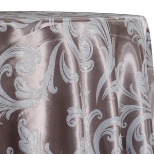 Regal Jacquard (Reversible) Table Linen in Dusty Rose
