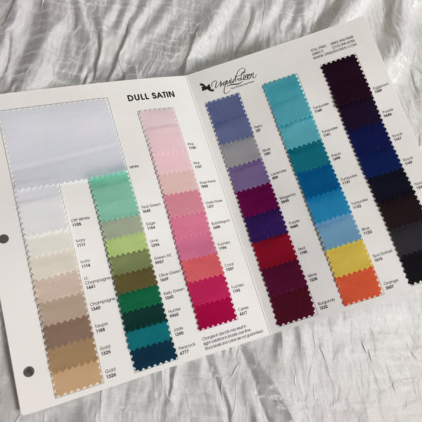 Lamour Dull Satin Color Card
