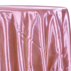 Bridal Satin Table Linen in Dusty Rose 317