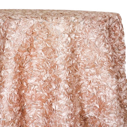 Curly Satin Table Linen In Dusty Rose