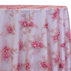 Baby Rose Embroidery Table Linen in Dusty Rose