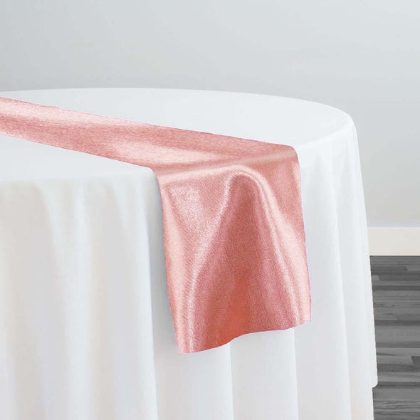 Shantung Satin Table Runner in Dusty Rose