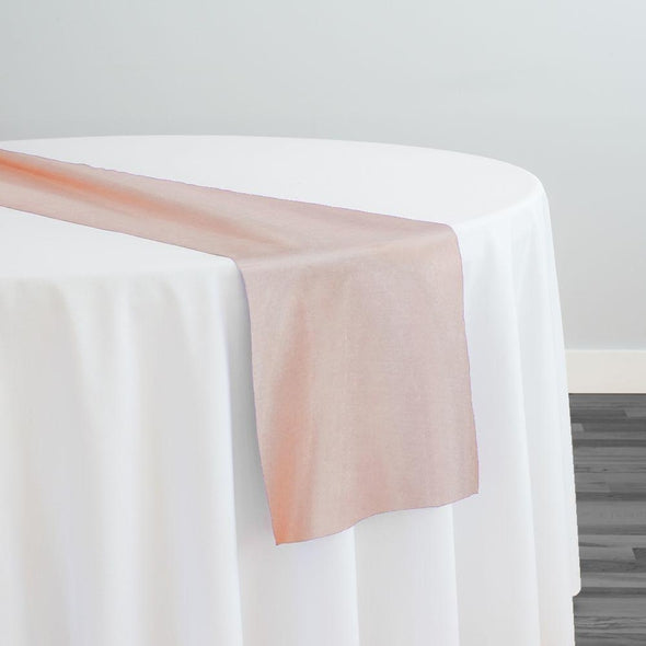 Crystal Organza Table Runner in Dusty Rose 161