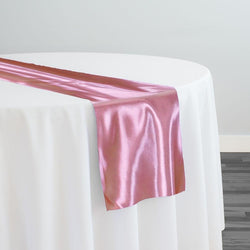 Bridal Satin Table Runner in Dusty Rose 317