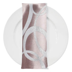 Cirque Jacquard (Double-Sided) Table Napkin in Dusty Rose