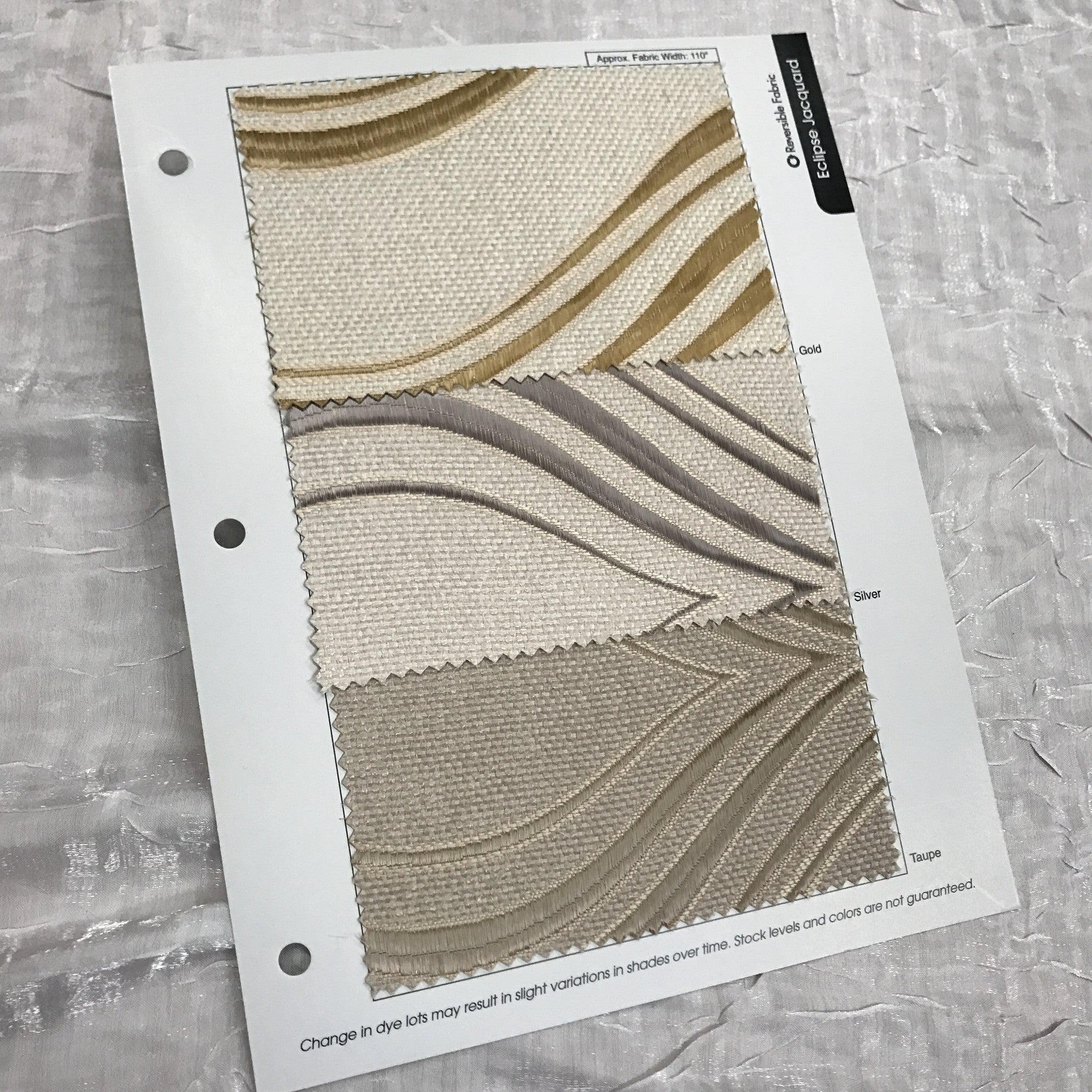 Eclipse Jacquard (Double-Sided) Color Card