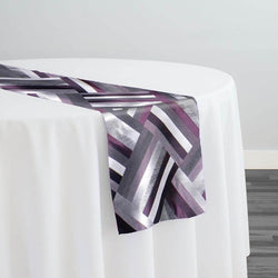 Broadway Jacquard (Reversible) Table Runner in Purple