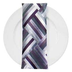 Broadway (Double-Sided) Table Napkin in Eggplant