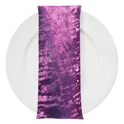 Crush Shimmer (Galaxy) Table Napkin in Eggplant 32