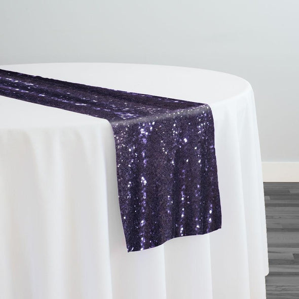 Glitz Sequins Table Runner in Eggplant