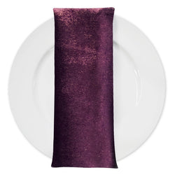 Lush Velvet Table Napkin in Eggplant
