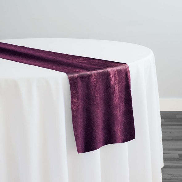 Lush Velvet Table Runner in Eggplant