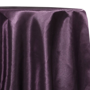 Shantung Satin (Reversible) Table Linen in Eggplant