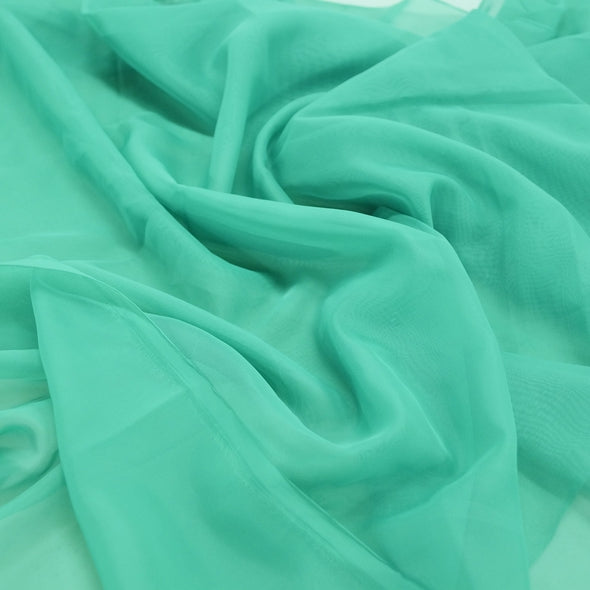 Voile Wholesale Fabric in Emerald 5638