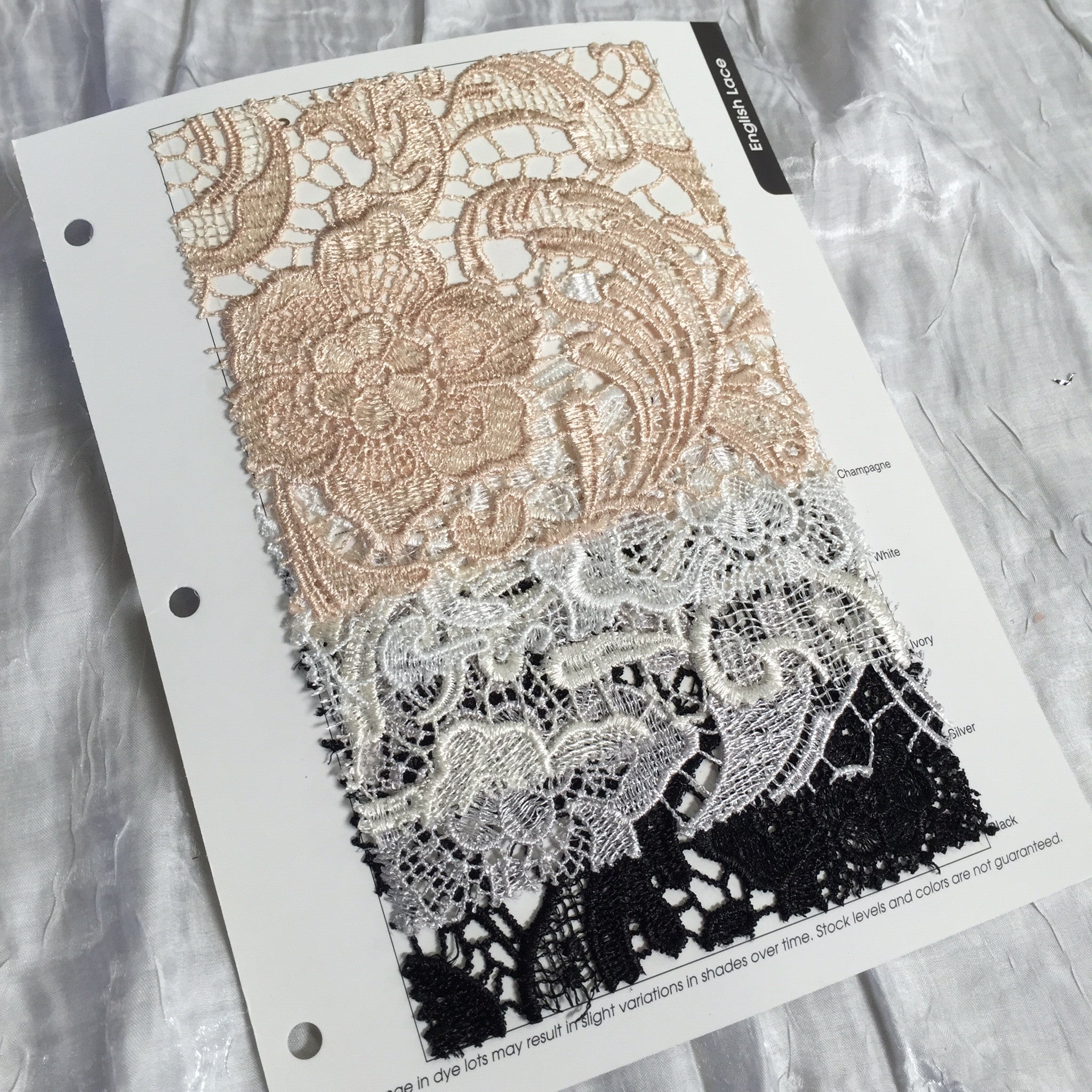 English Lace Color Card