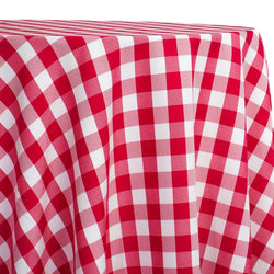 Polyester Checker (Gingham) Table Linen in Fuchsia