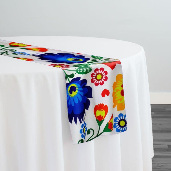 Flower Hoop (Poly Print) Table Runner
