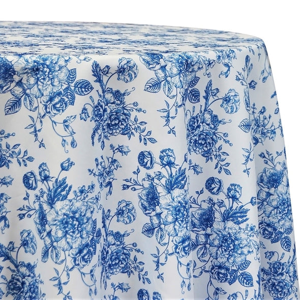 French Toile Print Table Linen