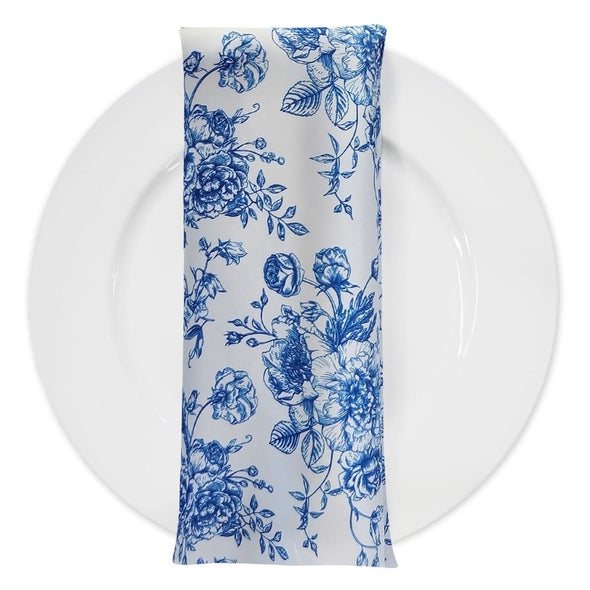 French Toile (Poly Print) Table Napkin