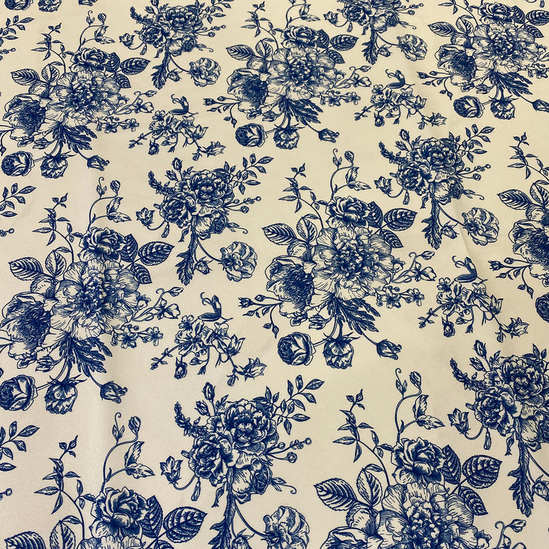 French Toile Print Table Runner