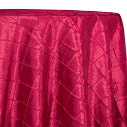 "2"" Pintuck Taffeta Table Linens in Fuchsia 044"