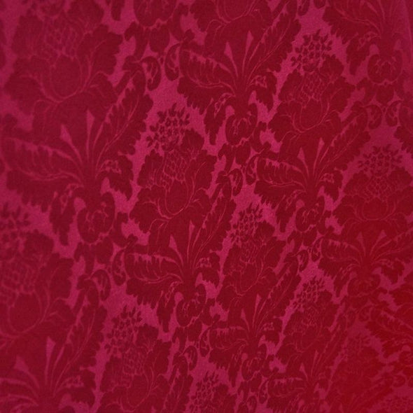 Damask Poly Table Runner in Fuchsia 1225