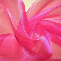 Crystal Organza Table Runner in Fuchsia 915