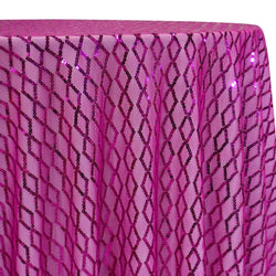 Vortex Sequins Table Linen in Fuchsia