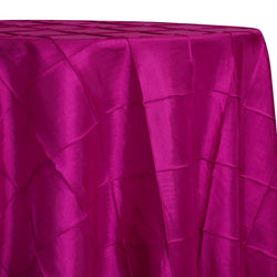 "4"" Pintuck Taffeta Table Linen in Fuchsia 064"