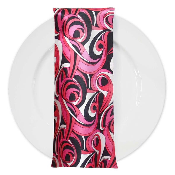 Abstract (Pucci) Table Napkin in Fuchsia