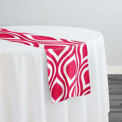 Groovy Print (Lamour) Table Runner in Fuchsia