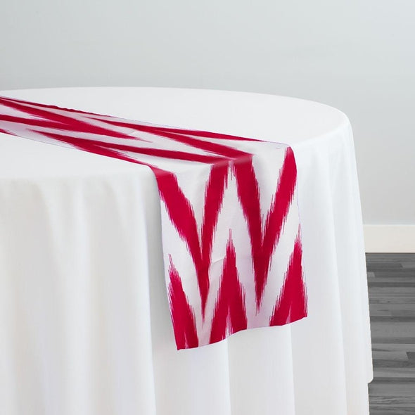 Horizon Poly Print Table Runner in Fuchsia