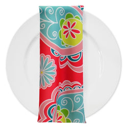 Pastel Paisley (Poly Print) Table Napkin in Fuchsia