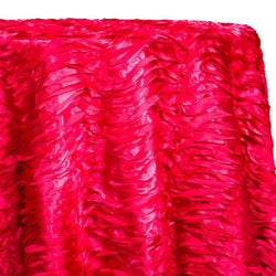 Austrian Wave Satin Table Linen in Fuchsia