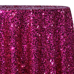 Taffeta Sequins Table Linen in Fuchsia