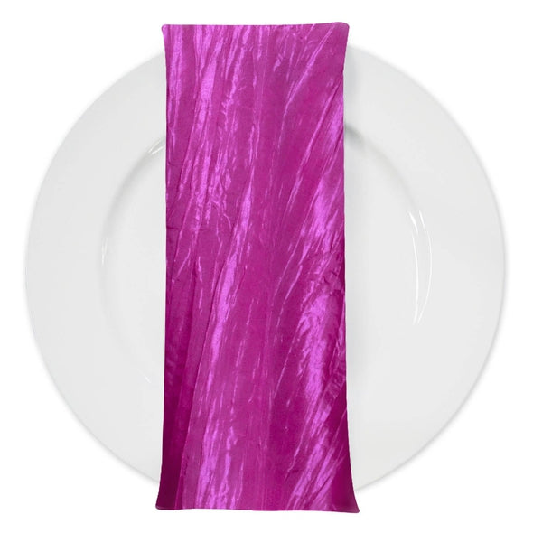 Accordion Taffeta Table Napkin in Fuchsia