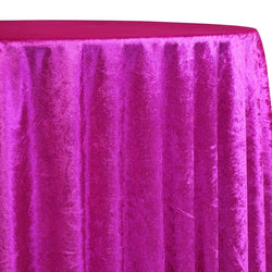 Lush Velvet Table Linen in Fuchsia