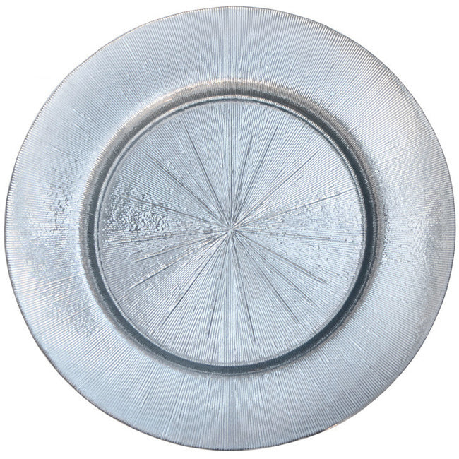 Metallic - Glass Charger Plate in Silver