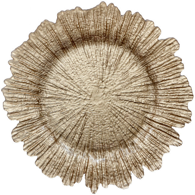 Reef - Glass Charger Plate in Champagne