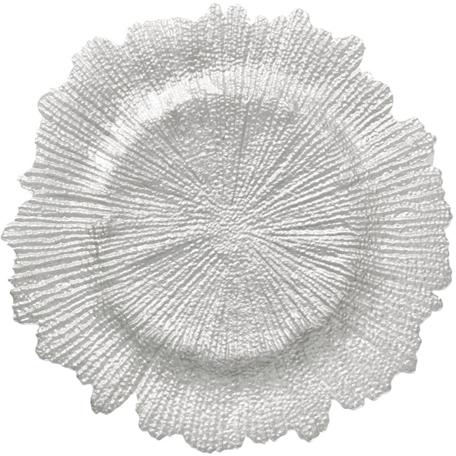 Reef - Glass Charger Plate in Pearl