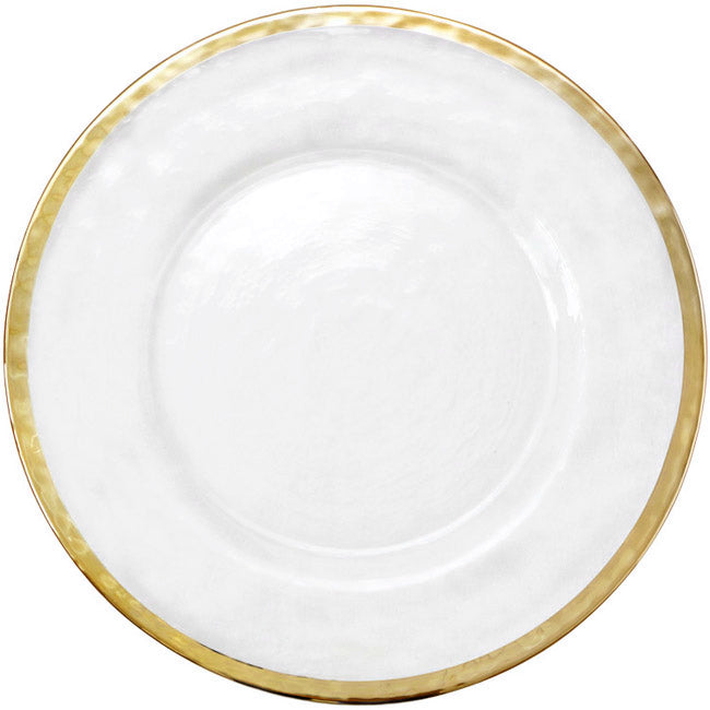 Halo - Glass Charger Plate in Gold