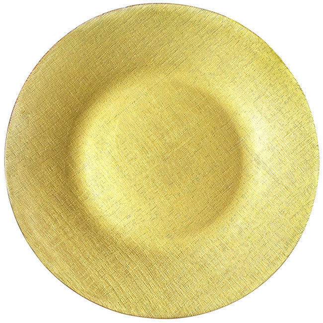 Linen - Glass Charger Plate in Gold