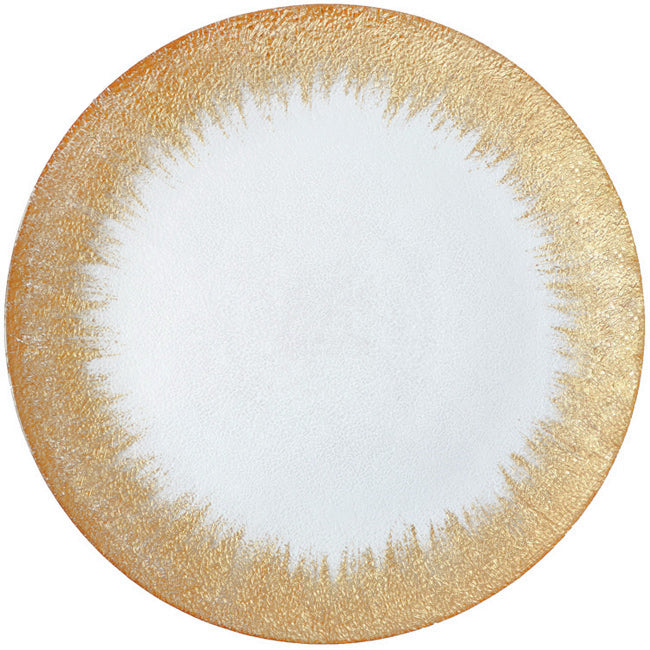 Stardust - Glass Charger Plate in Gold