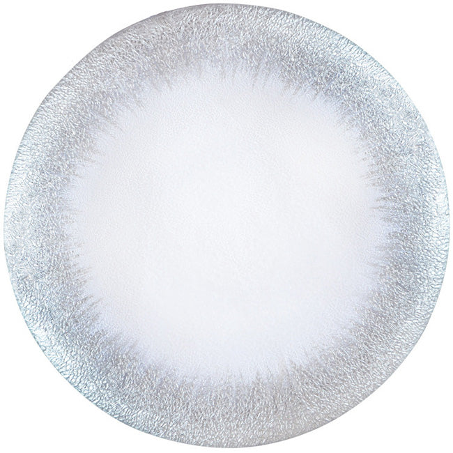 Stardust - Glass Charger Plate in Silver