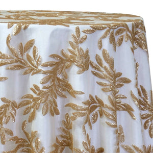 Giselle Sequins Table Linen in Champagne