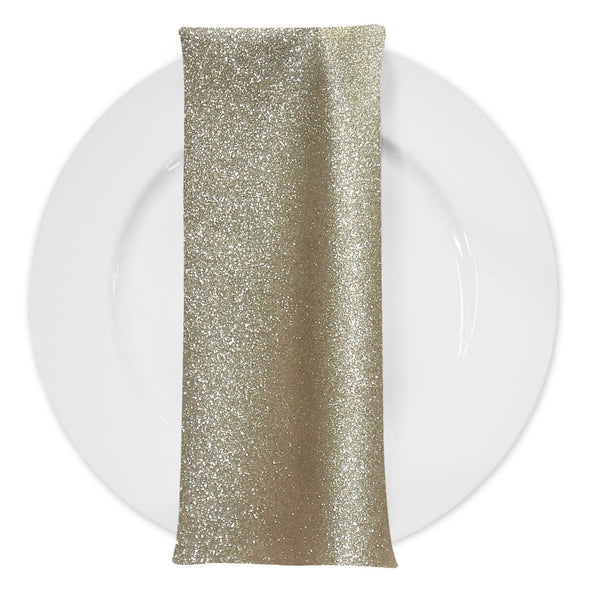Glam & Glits Table Napkin in Champagne